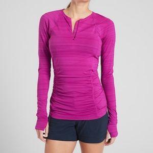 Athleta Vibrant Fuchsia Pacifica Contour Shirt
